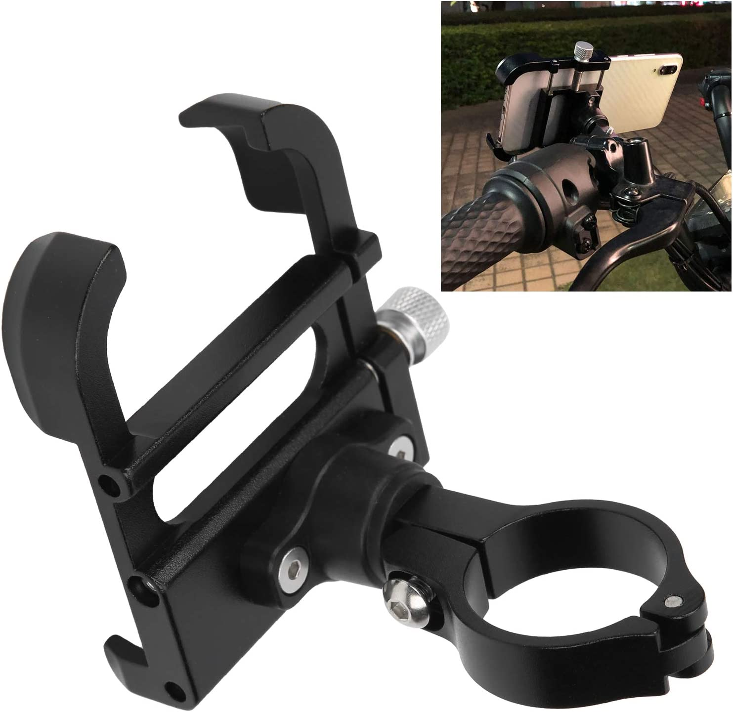 mart Be super welcome Bicycle Phone Holder Aluminum Alloy 6.8x6cm Rotatable Bicy 168g