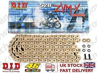 D.I.D ZVM-Xシリーズ シールチェーン ゴールド 98L 520ZVM-X ドゥカティ ビモータ 600 SS(AFTER 01853) 750 F1 サンタモニカ モンジュイ ラグナセカ SS ie スポーツ 800 851 SP SP2 スーパーバイク(KIT)