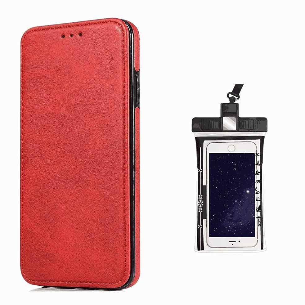 どちらも暗殺エミュレートする耐汚れ 手帳型 ケース Huawei P30 LITE ケース レザー 全面保護 スマホケース 本革 ケース,無料付防水ポーチケース