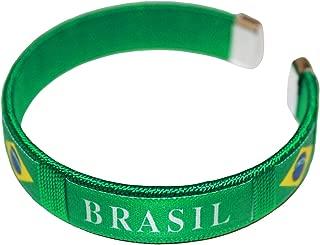 Brasil Brazil Green Country Flag C' Bracelet Wristband.. New
