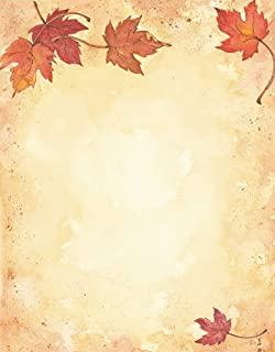 Great Papers! Fall Leaves Letterhead, Imprintable Stationery, 80 Sheets, 8.5