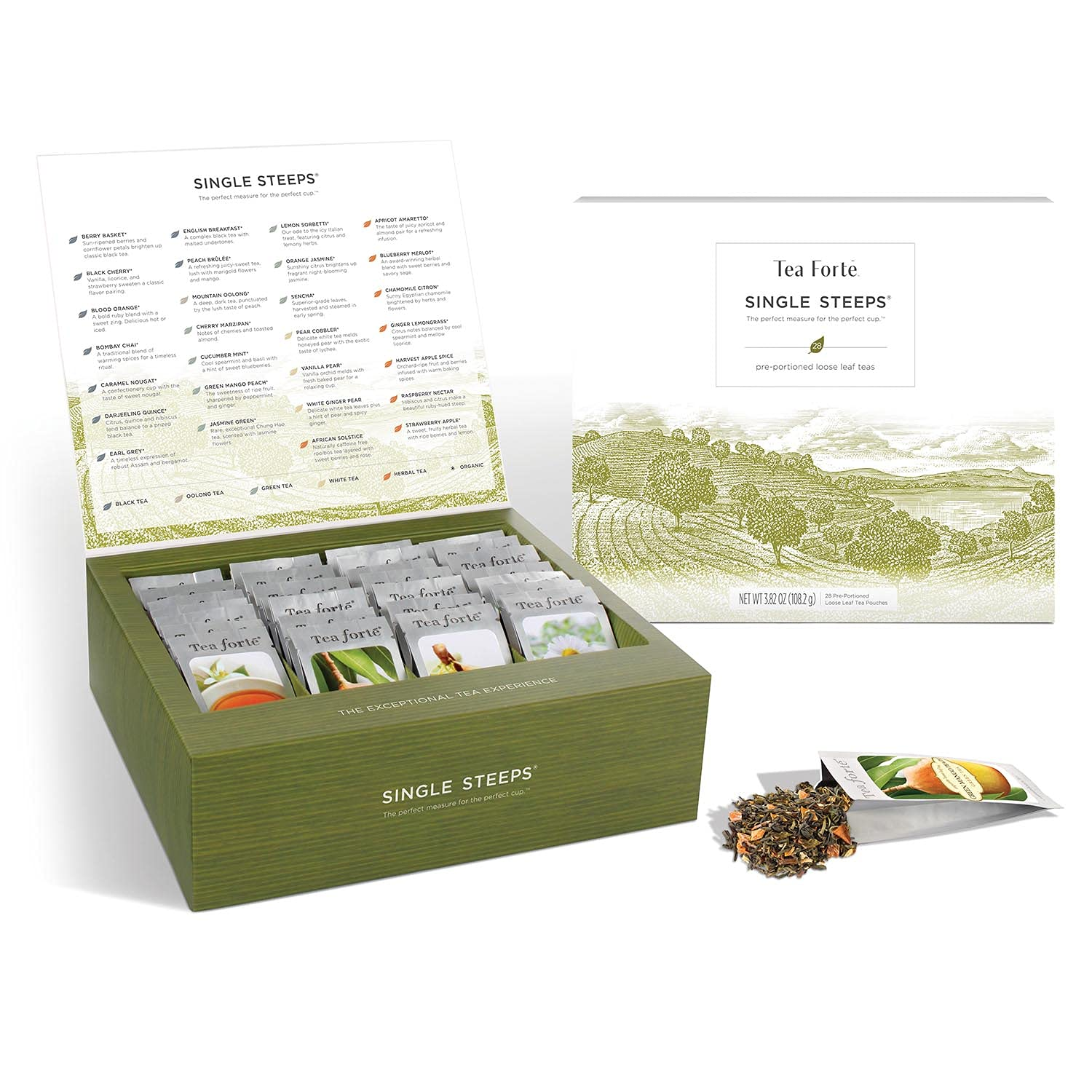 Indefinitely Tea Forte Classic Teas Single Steeps New Shipping Free Shipping Variety Chest Box Gift