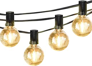 Palawell Outdoor Led String Lights, 23Ft G40 Dimmable Patio String Lights - Indoor Outdoor Globe Lights, Edison Vintage String Globs Bulbs as Porch Light, Party String Light, Yard Light, Cafe Light