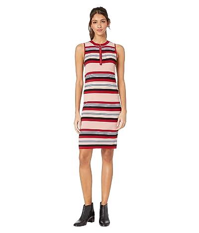 BB Dakota Worth The Stripe Dress (Pink Lemonade) Women