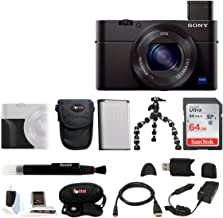 Sony DSC-RX100M III Cyber-Shot Digital Camera with Attachment Grip and 64GB SDXC Accessory Bundle