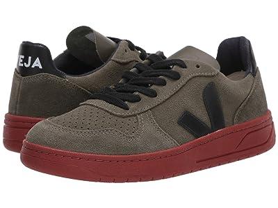 VEJA V-10 (Olive/Black Suede/Rust) Athletic Shoes