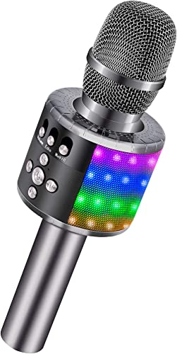 BONAOK Wireless Bluetooth Karaoke Microphone, Portable Handheld Karaoke Speaker Machine Birthday Home Party for PC or...