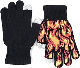 2 Pairs Boys` Texting Gloves - Grey, Black