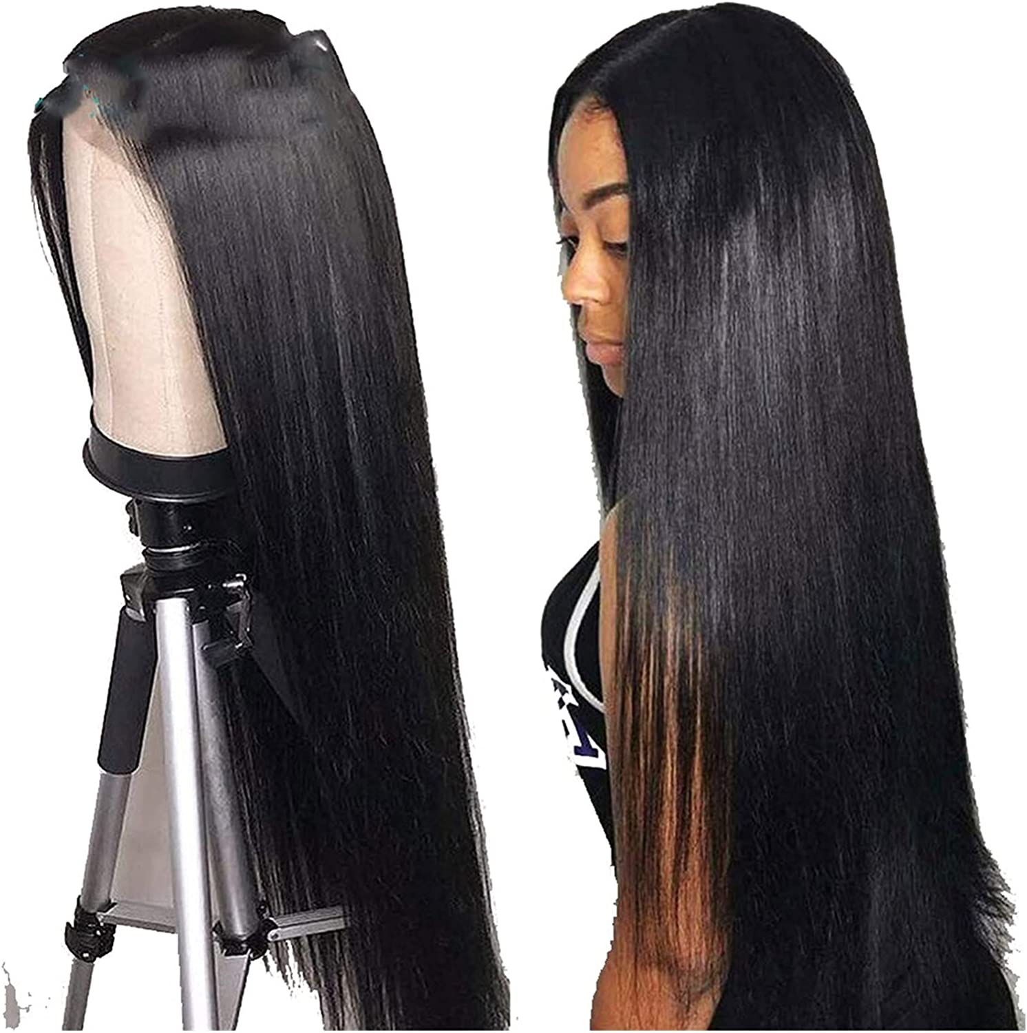 Lace Front Wig Chemical Fiber Easy to Mail order wear Long San Antonio Mall Hair Straight