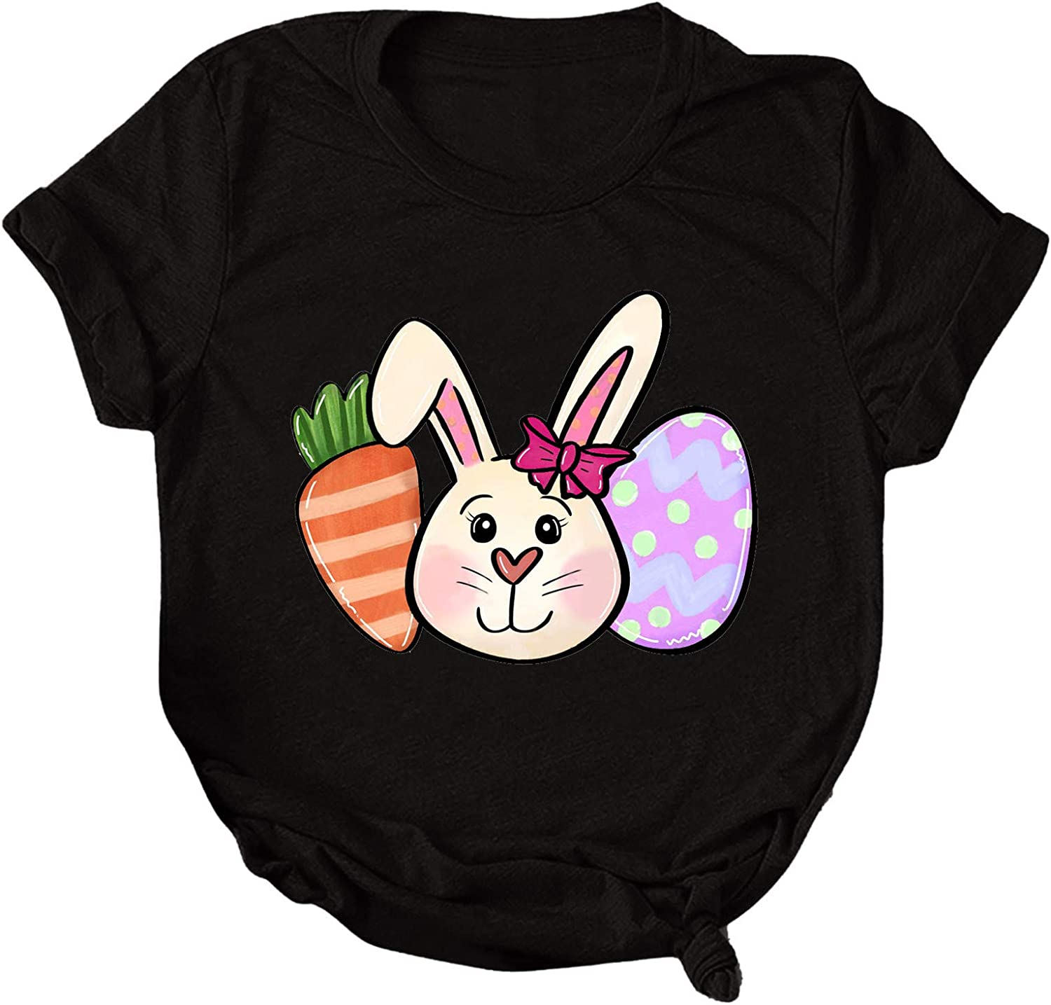 BEIBEIA Women's Easter Mom Fashion Short Online limited product All items free shipping T Shirt Sleeve B Casual