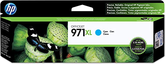 HP 971X | PageWide Cartridge High Yield | Cyan | Works with HP OfficeJet Pro X451, X476, X551, X576 | CN626AM