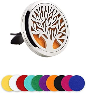 LURICO Car Air Freshener Aromatherapy Essential Oil Diffuser, Car Fragrance Diffuser Vent Clip, Aromatherapy Air Purifier ...
