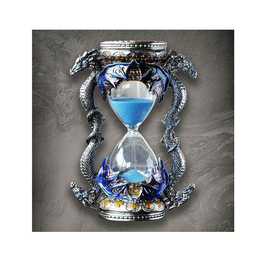 柱期待して広告するXIONGHAIZI 金属砂時計、15分タイマー、ドラゴン型クリエイティブオーナメント、ホームアクセサリー誕生日クリスマスプレゼント、すべての装飾スタイルに最適 (Color : Blue)