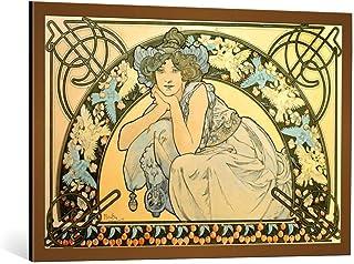 Kunst für Alle Image encadrée: Alfons Maria Mucha Cherry Blossom - Impression d'art décorative, en Cadre de Haute qualité,...