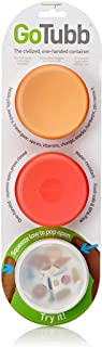 humangear GoTubb, 3-Pack, Medium, (2oz), Clear/Orange/Red
