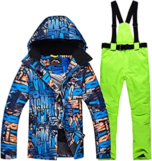 Printed Ski Suit Waterproof Skiing Snowboard Jacket and Pant Clothing Skiing Suit Set Outdoor Winter Coats