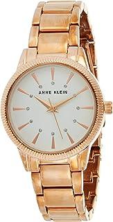 ساعة يد كوارتز بنمط عرض انالوج وسوار من الستانلس ستيل للنساء من ان كلاين، AK-3056WTRG
