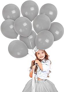 Treasures Gifted 10 Inches Solid Color Balloon Grey GENRVPNK-SET