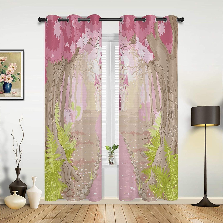 Window Outlet SALE Curtains Drapes Panels Spring Princess 70% OFF Outlet Castle Dreamy Pink
