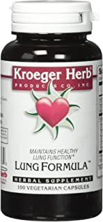 Kroeger Herb Lung Formula Capsules, 100 Count