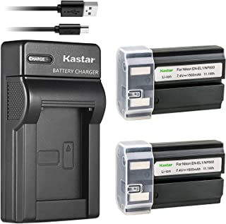 Kastar Battery (X2) & Slim USB Charger for Nikon ENEL1, Minota NP-800 and Nikon Cooipix 4300 4500 4800 5400 5700 775 8700 880 885 995 Coolpix E880 and Konica Minota DG-5W Dimage A200 Cameras