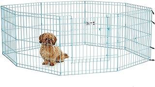 Dog playpen pet metal animal fense MIDWEST Blue color Exercise Pen with Door 24″ (L 60* H 60 CM)