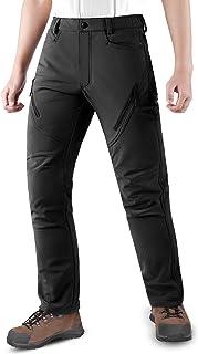 comprar comparacion KUTOOK Pantalones Trekking Hombre Softshell Impermeables y A Prueba de Viento Transpirables Cálidos Pantalones Invierno co...