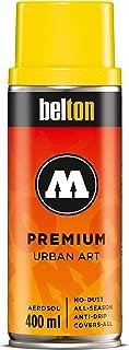 Molotow Belton Premium Artist Spray Paint, 400ml Can, Cadmium Yellow, 1 Each (327.082)