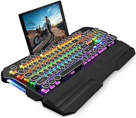 OUKB Steampunk E-Sports Teclado mecánico Computadora portátil ...