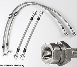 V2A Edelstahl Stahlflex Bremsleitungen 1300 1.3-54 PS Bj.1972-1983