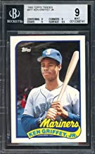 1989 topps traded #41t KEN GRIFFEY JR mariners rookie card BGS 9 (9 9 9 9.5) Graded Card