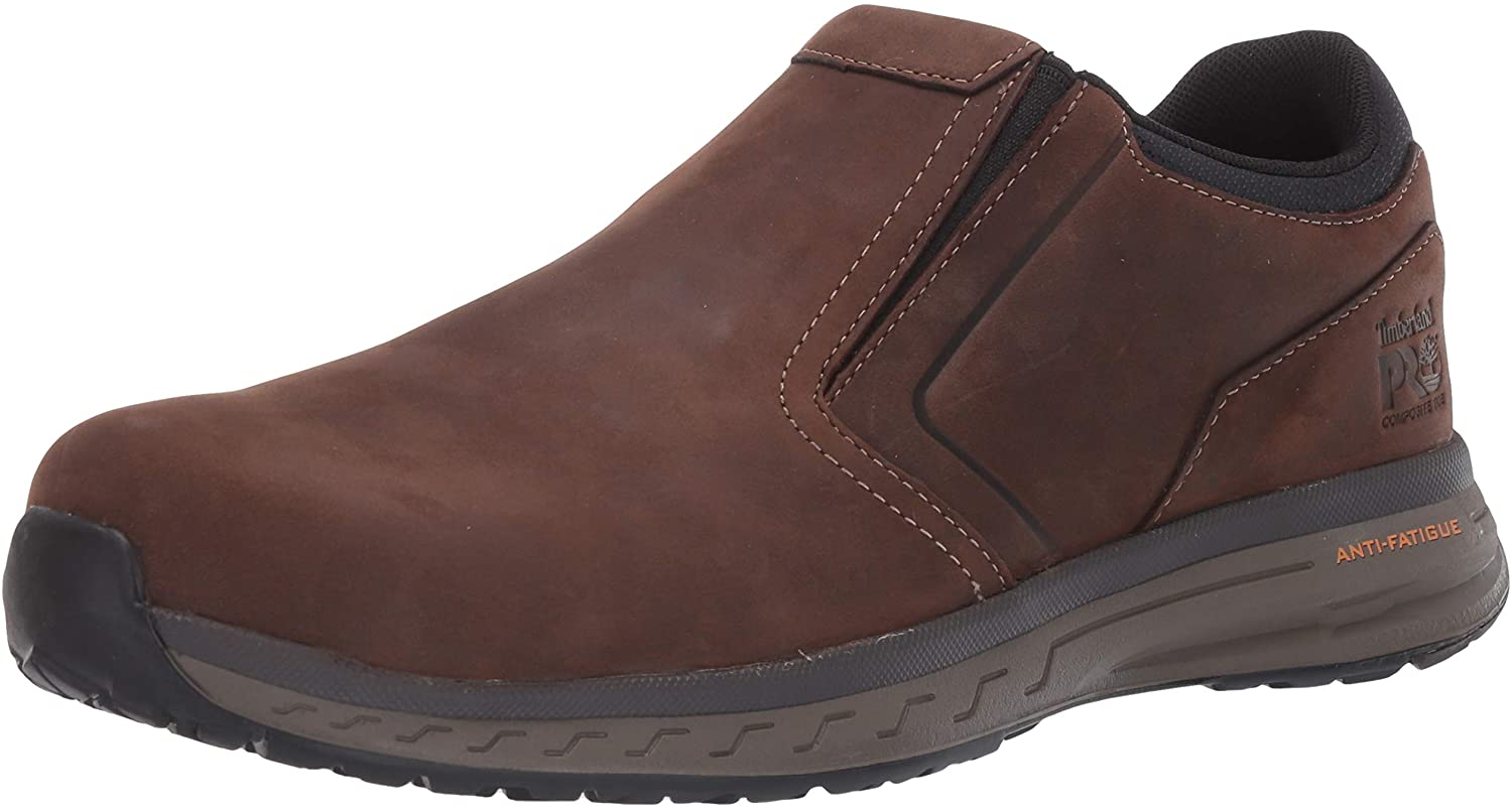 Timberland PRO Men's Drivetrain Oxford Slip-on Composite Safety Toe Industrial Casual Work Shoe