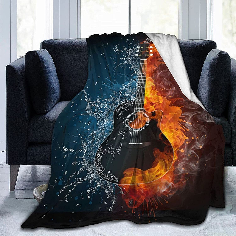 Guitar Ultra-Soft Throws Blanket Bombing new work Decorative Plu Fleece Ranking TOP1 Bedspread