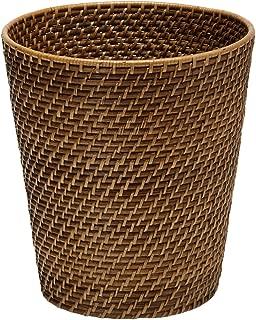 Kouboo 1030011 Round Rattan Waste Basket, 10.25