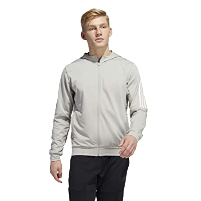 adidas Aero 3-Stripes Cold Weather Knit Hoodie (Metal Grey) Men
