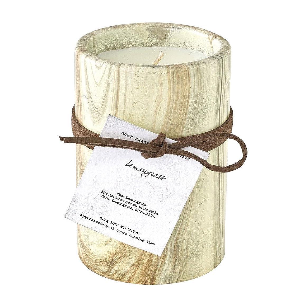 羊挑むトーンSPICE OF LIFE ろうそく マーブルアロマキャンドル レモングラス 250g 直径8cm 高さ11cm 香り 癒し リラックス SMLH1030LG