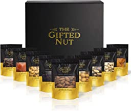 Gifted Nut Nuts Gift Basket - Assorted Fresh Gourmet Nuts and Dried Fruit Gift Box - Elegant Design for Corporate Gifts, H...