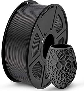 PLA 3Dプリンターフィラメント、SUNLU PLAフィラメント1.75mm、寸法精度 +/- 0.02mm、1kgスプール、1.75mm、PLAブラック