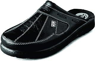 Bravo 109 Slip-on Mens Mule Clogs Slippers Shoes, Black