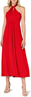 TRUTH & FABLE Amazon-Marke: TRUTH & FABLE Damen Maxi-Kleid mit Neckholder