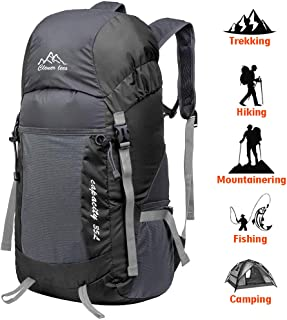 DAMIGRAM Mochila de Senderismo, Impermeable Mochila de Senderismo Paquete del Alpinismo Ligero Paquete del Alpinismo Ligero Plegable Impermeable Mochila de Marcha Trekking Camping
