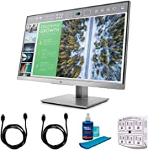 HP Hewlett Packard 1FH47A8#ABA EliteDisplay 23.8-Inch Screen LED-Lit Monitor, Silver Bundle with...