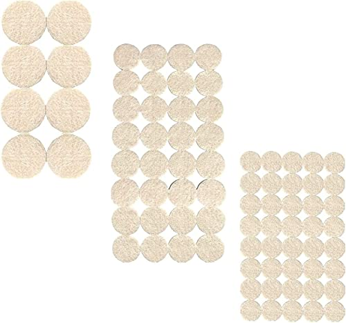 Lukzer 80 PCs Scratch Proof Felt Pad Assorted Furniture Pads Beige Multi Functional Self Adhesive Noise Insulation Floor Bumper Self Adhesive Floor Protector Door Table Cabinet Child Safety