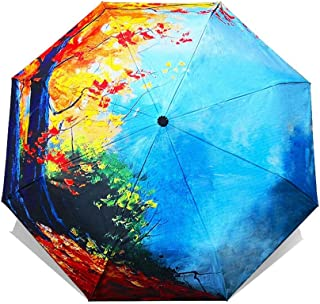 Folding Umbrella Female Art Sakura Umbrellas Rain Women Windproof Anti-Uv Sun Parasol