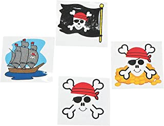 Pirate Tattoos 72 Per Package, Assorted Styles