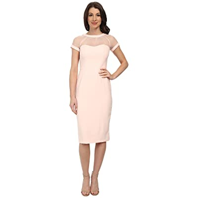 Maggy London Illusion Top Crepe Dress (Blush) Women