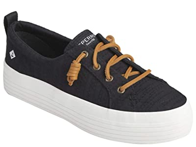 Sperry Crest Vibe Platform Smocked (Black) Women
