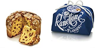 FLAMIGNI Italian Panettone Gourmet Bread Cake Handwrapped With Raisin Without Candied Fruit, 1 kg