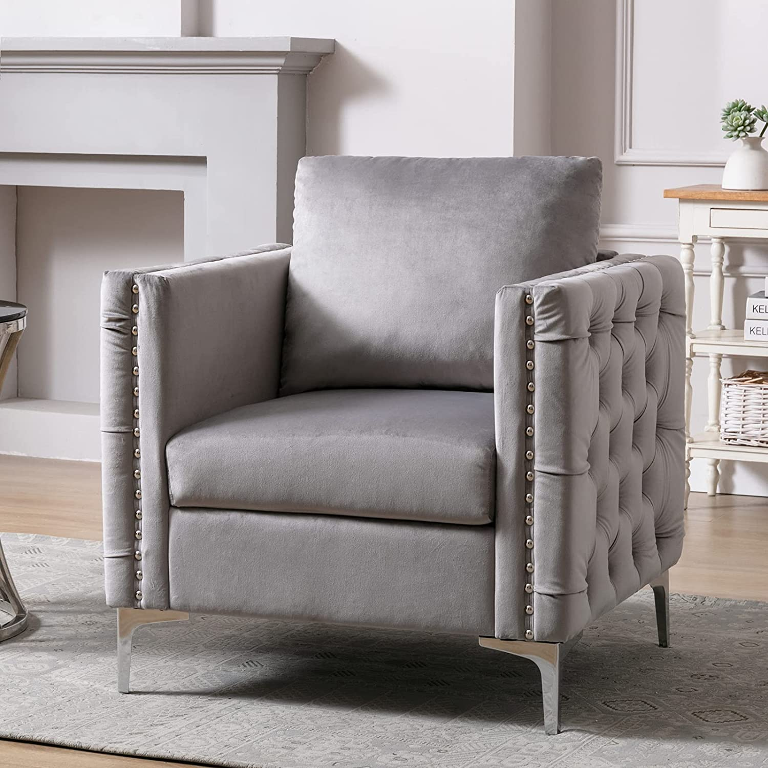 Babody Modern Armchair Tufted Ranking TOP7 Button Chair Max 46% OFF wit Accent Club