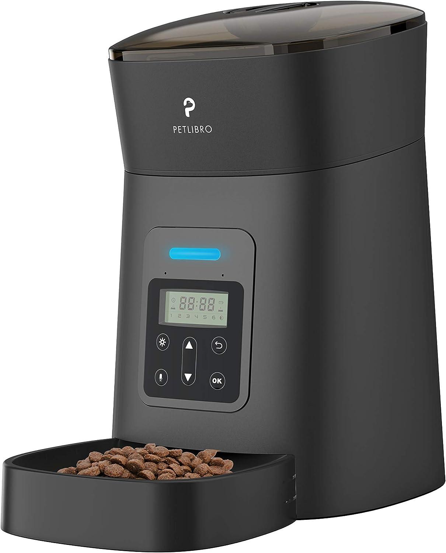 PETLIBRO Automatic Super-cheap Cat Feeder 4L Auto Dispenser wi Food Max 60% OFF Pet Dry